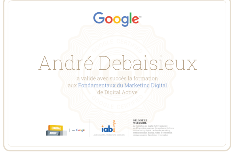 exemple de certification digital