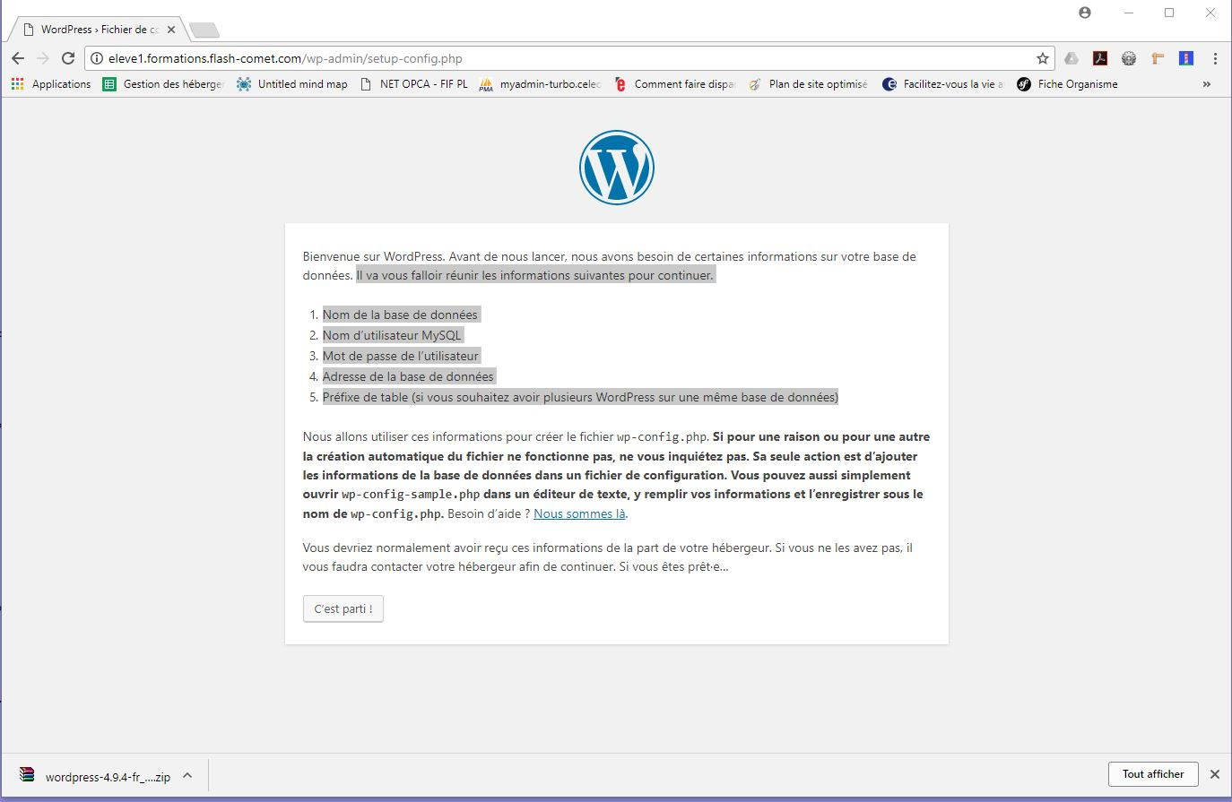 etape1 installation wordpress