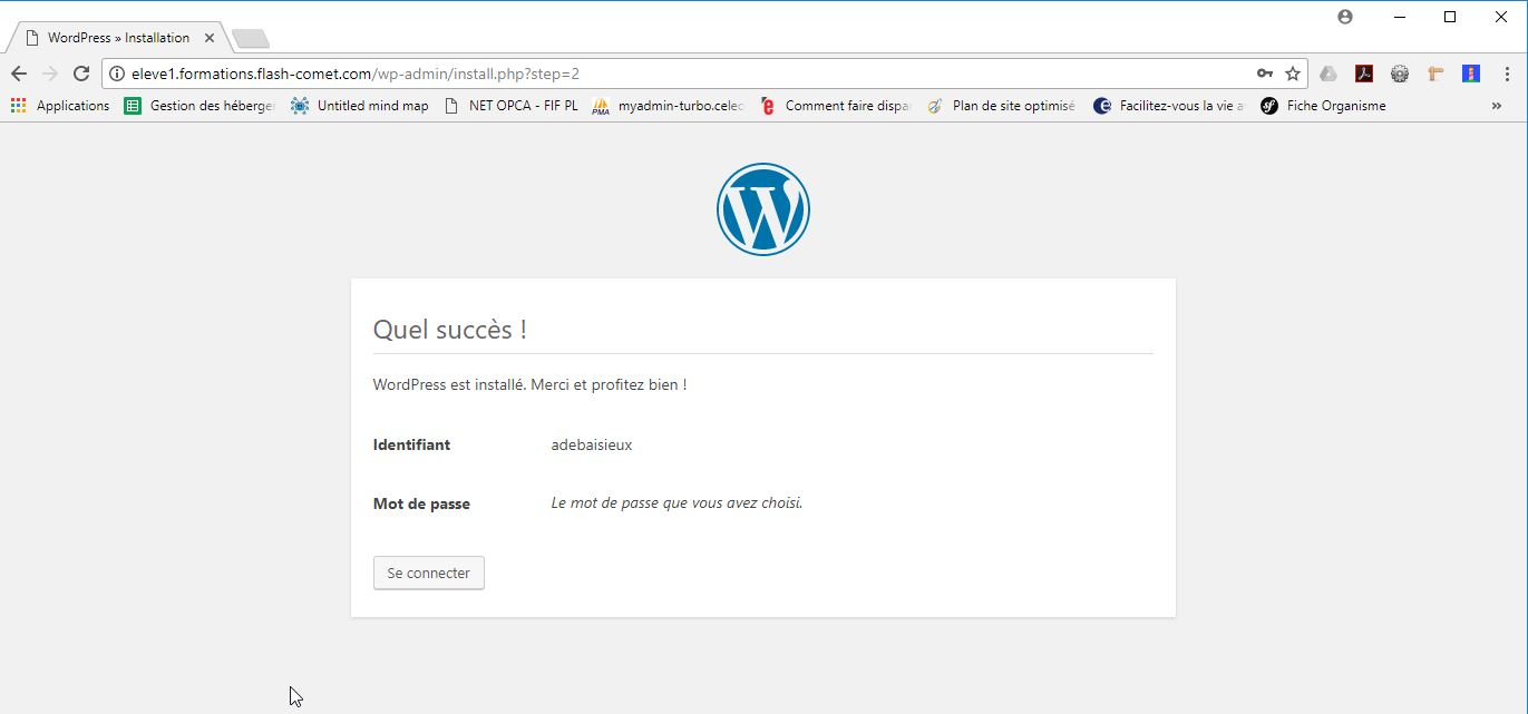 etape5 installation wordpress