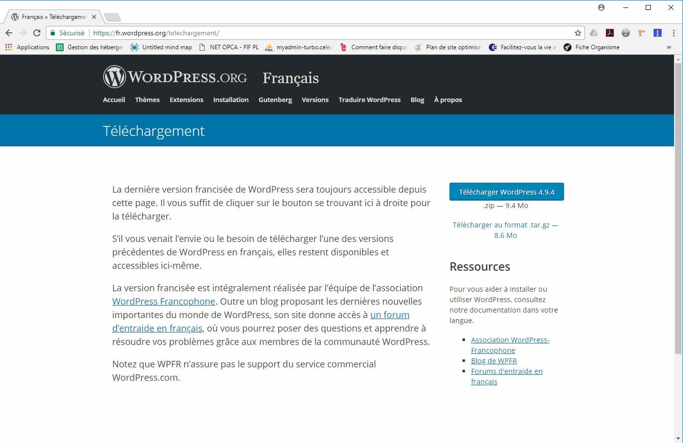 telecharger wordpress